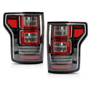 Vland Modded Clear Tail Lights W/ Red Turn Signal For 15-20 Ford F-150