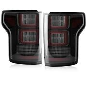 For 15-20 Ford F-150 All Trims 2 Gen. Smoked Full Led Taillights W/ Red Turn Sig