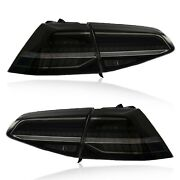 For 16-17 Vw Golf Mk7/gti Smoke Full Led Taillights W/ Sequential Mk7.5 Style