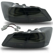 Vland Modded For 2013-2015 Accord Smoked Fiber Optic Sequential Led Tail Lights