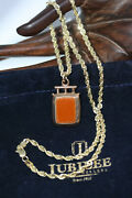 Vintage Carnelian Bloodstone Pendant 10k Solid Gold Necklace 18 3 Mm Rope Chain