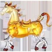 Amazing Cool Horse Shaped Lead-free Home Whiskey Decanter Top Quality Bottle Win