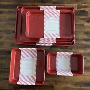 Nwt Masterclass 10 Piece Red With Speckles Bakeware Set