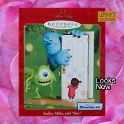 Hallmark Ornament 2001 Sulley Mike And Boo Looks New