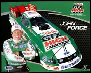 John Force Signed Autograph Auto 8x10 Photo Bas Beckett Authenticated Small Cert