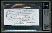 Charles Strouse Signed 2x5 Grey Skies Are Gon-na Clear Up Handwritten Staff Bas
