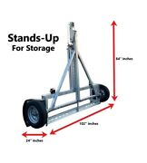 Galvanized Stand Up Car Tow Dolly By Ez Haul
