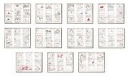 The Doomed Island Production Storyboard Art 1960s Jc-17 Complete 11 Page Story