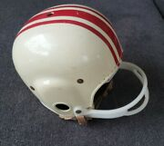 Vintage Macgregor Football Helmet E684g Suspension Leather Chin Strap Small