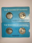 Wonders Of Mankind Solid Sterling Silver 12 Coin Set By Encyclopedia Britannica