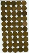 Coin Roll 1910-s Lincoln Wheat Cent Pennies - Penny Lot Collection - Ry437