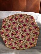 Royal Albert Doulton Old Country Roses Chintz B And B/cake Plate.  9 1/2