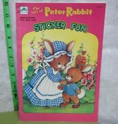 Tale Peter Rabbit Western Publishing Sticker Activity Book Golden Coloring 1981