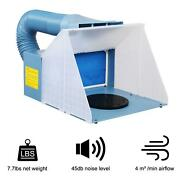 Portable Airbrush Spray Booth Kit Paint Craft Hobby Craft Filter Set Model Blue