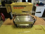 Vintage Farberware Open Hearth Electric Indoor Broiler Rotisserie Barbecue Grill