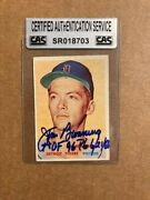 Jim Bunning Signed And Inscribed Hof/pg 1957 Topps Rookie Card Csa Certified