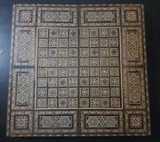Vintage Syrian Large Mosaic Wooden Inlaid Marquetry Backgammon Game Set 20 Rare