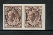 Canada 71a Very Fine Mint Lightly Hinged Imperf Pair With Certificate