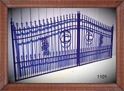 Wrought Iron Style Steel Driveway Entry Gate 14' 1101 Home Residential Security