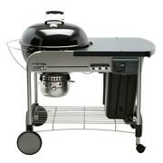 Weber Performer Deluxe Charcoal Grill Built-in Thermometer Timer Black 22 Inch