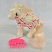 Rare My Little Pony Year 6 Twice As Fancy Pony Yum Yum W/comb Preowned