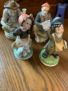 Vintage Homco And World Gift Lot Of Four Pretty Figurines With Free Shipping