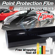 60x120 Ppf Paint Protection Film Gloss Black Vinyl Invisible Scratches Shield
