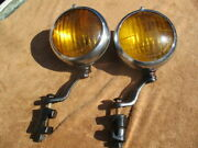 1930and039s-1940and039s 6 Inch Appleton Script Studebaker Script Fog Lights With Brackets