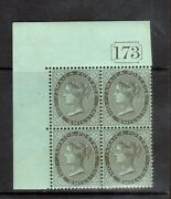 Jamaica 43a Sg 154a Extra Fine Never Hinged Block With For S In Shilling