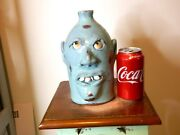 Billy Joe Craven Junior Face Jug Pottery Folk Art 8and039and039x5and039and039