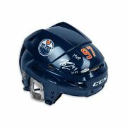Connor Mcdavid Signed Autographed Helmet Authentic Ccm Navy Oilers Mvp /97 Uda