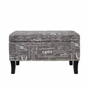 Bench Storage Ottoman Entryway Living Room Furniture Vintage Antique Style Wood