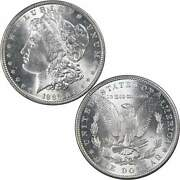 1889 Morgan Dollar Bu Uncirculated Mint State 90 Silver 1 Us Coin Collectible