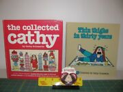 Two Cathy Comic Books + One Cathy 3d Magnet Other Comic Collectibles