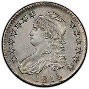 1814/3 Capped Bust Half Pcgs Graded Au Details - Corrosion Removed 41094640
