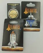 Lot Of 3 Atlantic Kennedy Space Center Pins Collectibles Rare New Enamel Space