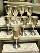 8 Water Goblets Lord Saybrook By International 6.625 In Sterling Silver 1920g