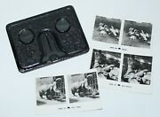 Old Antique C1920s-30s The Camerascope Folding Pocket Stereoviewer W/ 3 Cards