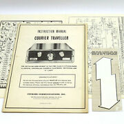 Courier Traveller Vintage Cb Radio Instruction User's Manual Schematic And Sticker
