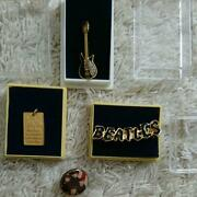 The Beatles Collection Set Pin Badge Pendant Rare Difficult To Obtain