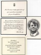 Kennedy Family Acknowledgments Of Sympathy On Deaths Of John Robert And Rose