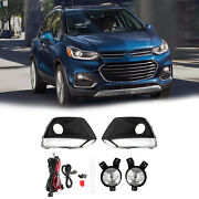 Bumper Fog Lights Lamp W/wiring Switch Pair Lh+rh Fits For Chevy Trax 2017-2020