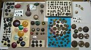 Huge Lot Of Antique/vintage Buttons,multiple Listings,100's Of Variety,nice