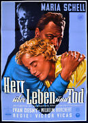 Master Over Life And Death 1955 Maria Schell, Ivan Desny German Poster