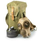 Belgian Military Surplus M51 Gas Mask With Bag And Filter, New