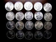 20 Coin Roll Beautiful Silver Morgan Dollars Dated 1904 And Earlier Blast White