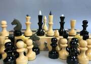 Rare Vintage Soviet Chess Wooden Games Set Complete Ussr 1990s Board Tournament