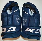 Auto Fanatics Nathan Mckinnon Colorado Calder 2014 Game Model Blue Ccm Gloves