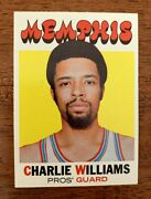 1971-72 Topps Basketball 158 Charlie Williams Aba Pros Nm+/mt