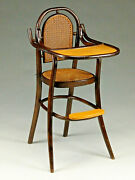 Lovely Thornet-style Bentwood Childandrsquos Highchair.